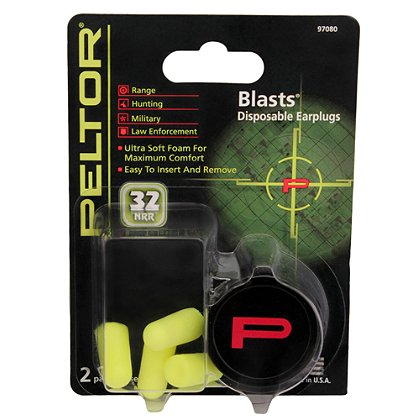 3M Peltor Blasts Disposable Earplugs NRR 29 dB