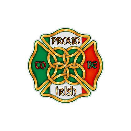 Maltese Cross Proud to be Irish Reflective Decal, 2 in.