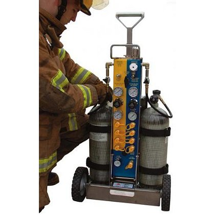 Air Systems: Tech-Rescue Cart, 9 Outlets, 5500 psi, CGA-347 (No Cylinders)