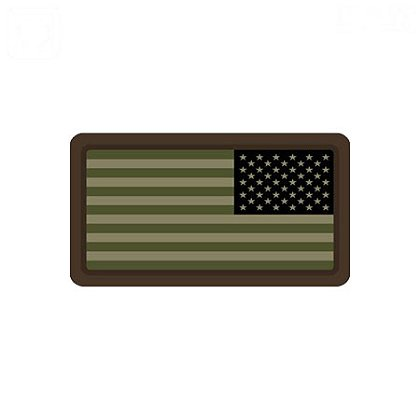 MIL-SPEC Monkey Mini US Flag PVC - Reversed