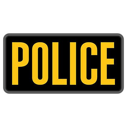 """MIL-SPEC Monkey: 6"""" x 3"""" POLICE PVC"""