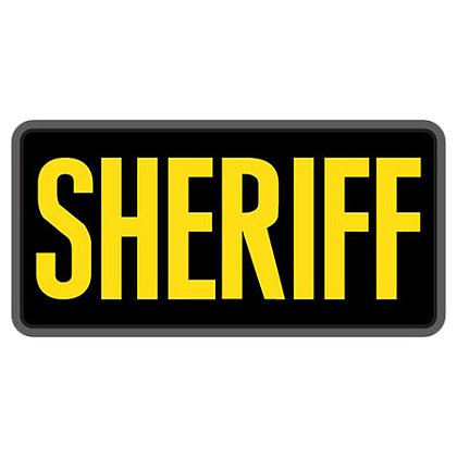 "MIL-SPEC Monkey: 6"" x 3"" SHERIFF PVC"