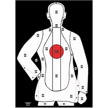National Target Law Enforcement Silhouette, 25 Yard, 20.5