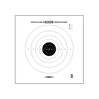National Target Official NRA Competition Targets, 25 Yard- Pistol