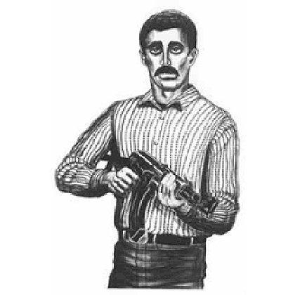 National Target  Law Enforcement Silhouette, Drawn Man 22.5