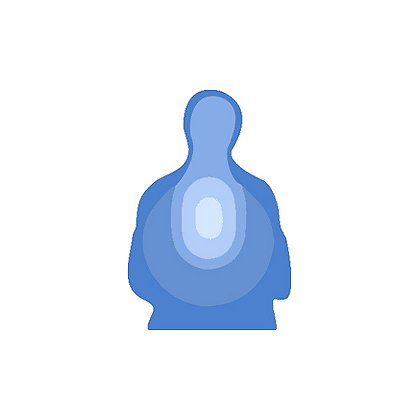 National Target Law Enforcement Silhouette, Blue US Treasury 24