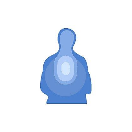 National Target Law Enforcement Silhouette, Blue US Treasury 24