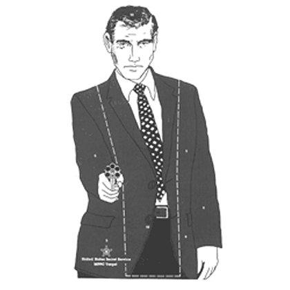 National Target Law Enforcement Silhouette, Hostile Man 22.5