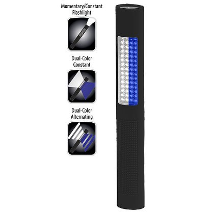 NIGHTSTICK: Safety Light / Flashlight, White & Blue LED, 150 Lumens