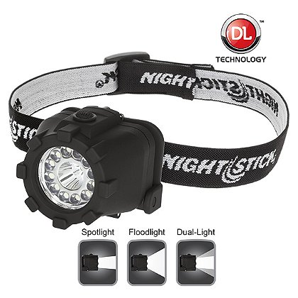 NIGHTSTICK Dual-Light LED Headlamp, 40-80 Lumens