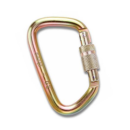 "Omega: 7/16"" Steel Modified D Carabiner"