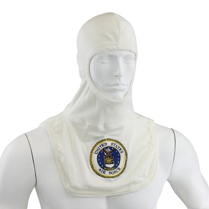 Majestic PAC II 100% White Nomex Airforce Embroidered Hood, NFPA 1971-2013