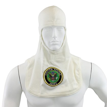 Majestic: PAC II 100% Nomex White Army Embroidered Hood, NFPA 1971-2013