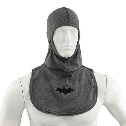 Majestic PAC II Bat Symbol Grey Hood with Embroidered Logo, Gray, NFPA 1971-2013