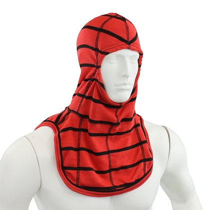 Majestic: PAC II 100% Nomex Hood, Red w/ Spider Stripes, NFPA 1971-2013