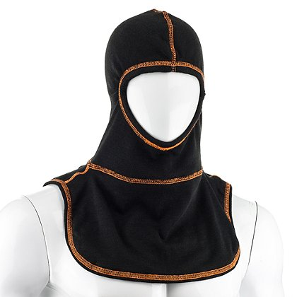 Majestic: PAC II Black Visibility Stitch Hood with High Vis Orange Threading
