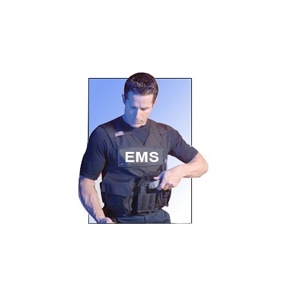 Point Blank R20-D EMS Accessory Carrier Only, White Lettering