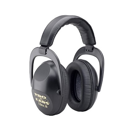 Pro Ears Ultra 26 Passive Ear Muffs, Top Protection, Black