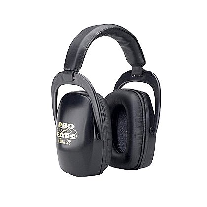 Pro Ears Ultra 28 Passive Ear Muffs -- Ultra Protection, Low Profile, Less Weight, Black