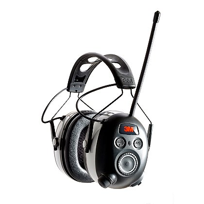 Peltor 3M Worktunes Wireless Hearing Protector with Bluetooth Technology Display