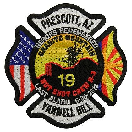 TheFireStore Heroes Remembered, 19 Hot Shot Crew Memorial Patch