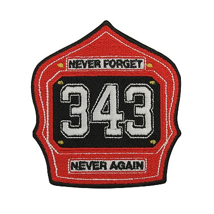 TheFireStore Commemorative Shield Patch, Never Forget, 343, Never Again