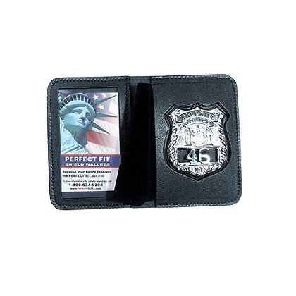 Perfect Fit Duty Leather Book Style ID & Badge Case