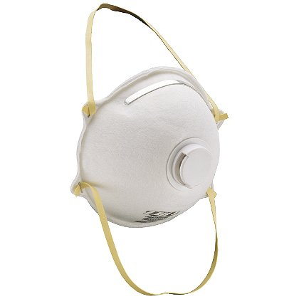 PIP: N95 Particulate Respirator, Cone Style with Valve, Adjustable Nose, 10 Masks Per Box, NIOSH