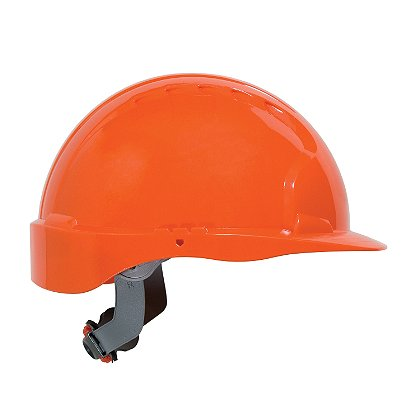 PIP Evolution Deluxe 6151 Hard Hat, 6-Point Poly Textile Suspension, Wheel Ratchet Adjustment, Non-Vented, ANSI