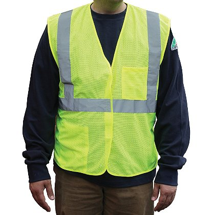 PIP ANSI Class 2, Mesh Vest, Hook & Loop Closure, 2 Pockets