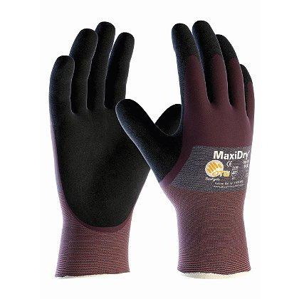 PIP MaxiDry Ultra Lightweight Nitrile Glove 3/4 DIP,  Coating with Non-Slip Grip, Super Fine Gauge Seamless Knit Nylon Liner, Available in Box of 12