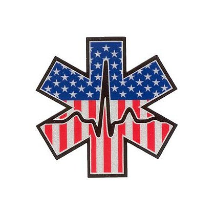 3Decals Cardiac Star of Life Reflective Decal USA Print