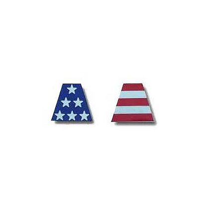 LTOD 6 Part Reflective Tetrahedrons, USA Flag Decals