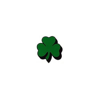 3Decals Shamrock Shadowed Reflective Decal, Green on Charcoal