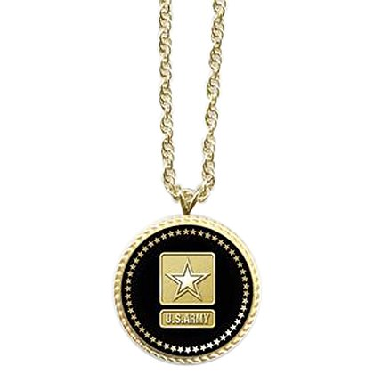 Son Sales Army Pendant Presidential Series 18K Gold Plate with Applied Emblem, 18