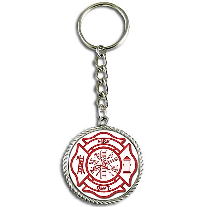 Son Sales, Inc. US Fire Department Sublimated Key Ring
