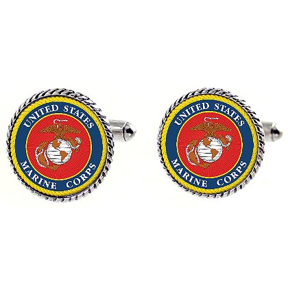 Son Sales Sublimated US Marine Corps Cuff Links