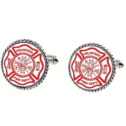 Son Sales Sublimated Volunteer Fire Department Cuff Links