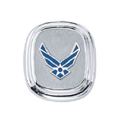 Son Sales Air Force Classic Tie Tac, Sterling Silver with Polymer Service Branch Insignia with Dual Clutches