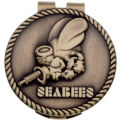 Son Sales: Navy SeabeesBronze Money Clip Bronze Money Clip 1.5