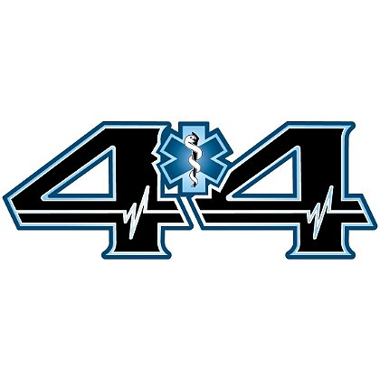 Decal: 4 X 4 Truck with Blue SOL, 4