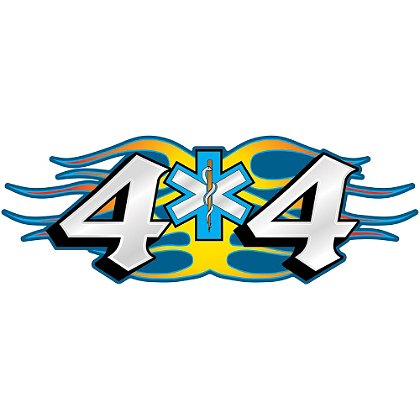 Decal: 4 X 4 Truck Blue & White SOL, 4