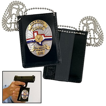 Strong: Undercover Badge and ID Holder with Chain