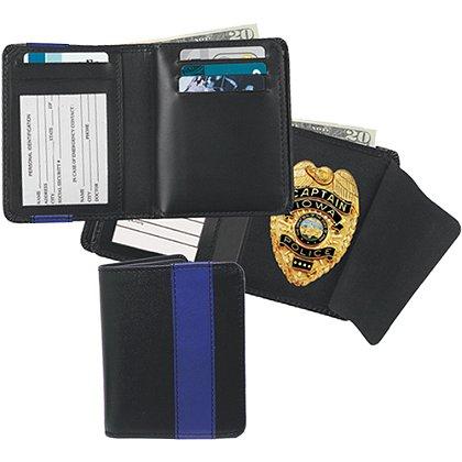 Strong Leather Blue Line Deluxe Hidden Badge Wallet