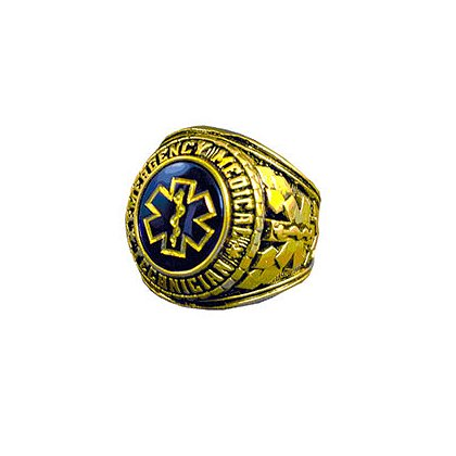 TheFireStore Men's EMT Ring, 18k GP