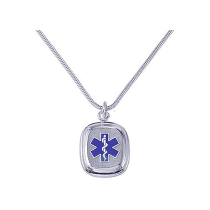 EMT Pendent & Chain, Sterling Silver