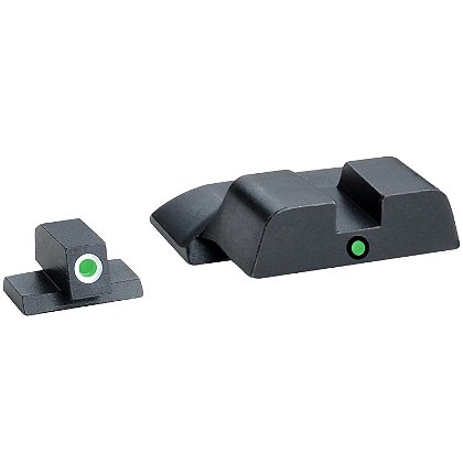 AmeriGlo Smith & Wesson M&P Tritium i-dot Sight Set for All M&P models (except Shield), 2 Dot Night Sight Set, Green Front Green Rear