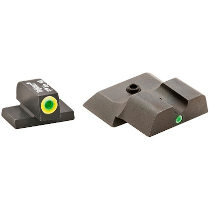 AmeriGlo Smith & Wesson M & P Tritium Pro i-Dot Sight Set for All M&P models (except Shield) with LimeLumi Outlined Dot