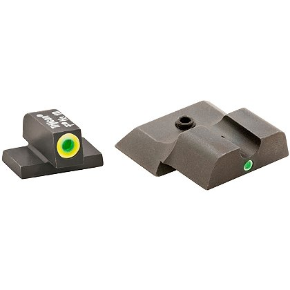 AmeriGlo Smith & Wesson M&P Tritium Pro i-Dot Sight Set for M&P Shield with LimeLumi outlined dot