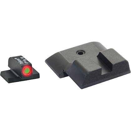 AmeriGlo Smith & Wesson M&P Tritium Hackathorn Sight Set fits M&P Shield Models, ProGlo Front Sight with Orange Outline
